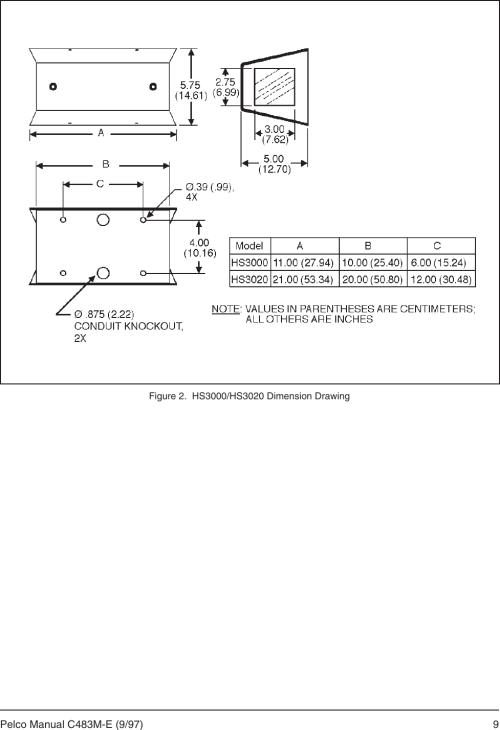 small resolution of page 11 of 12 pelco pelco pelco security camera hs3020