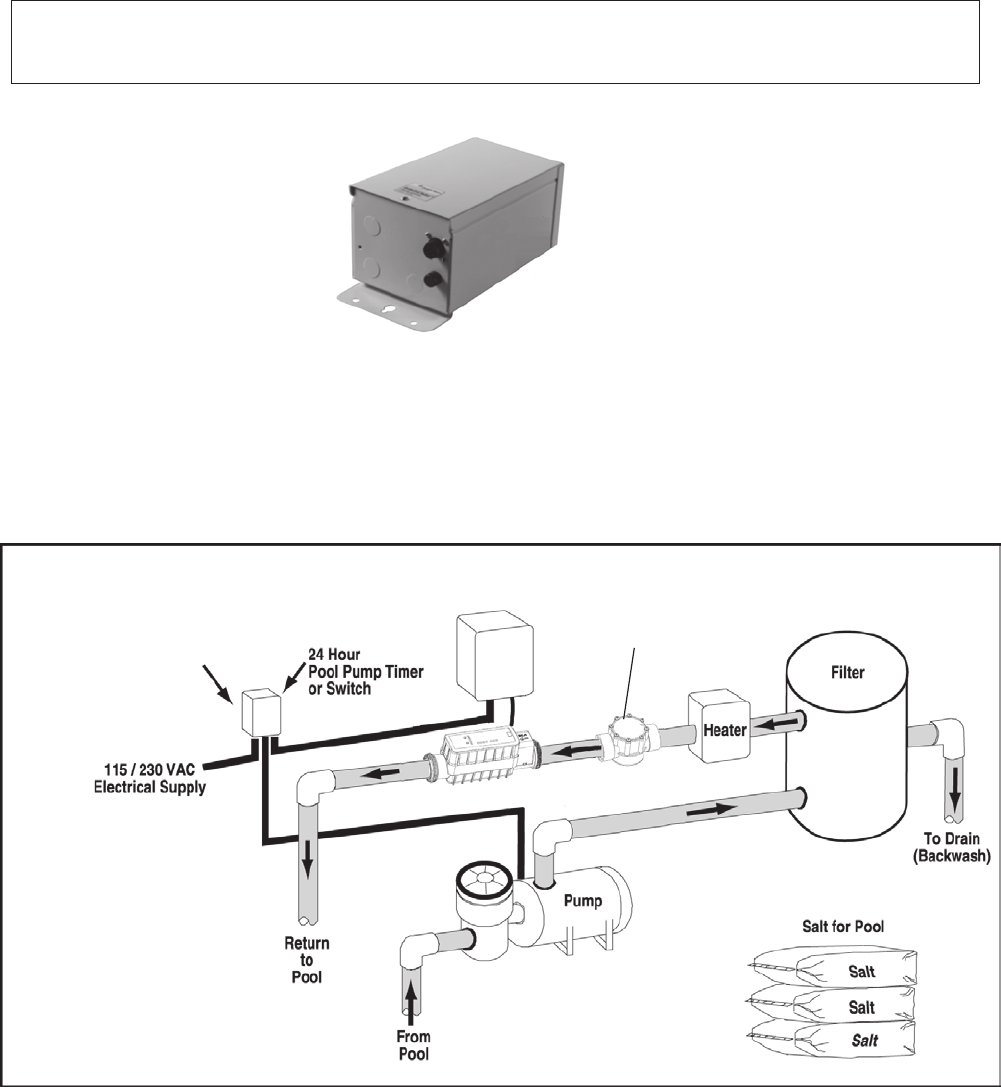 Pentair Ic20 Ic40 Users Manual IntelliChlor Installatin