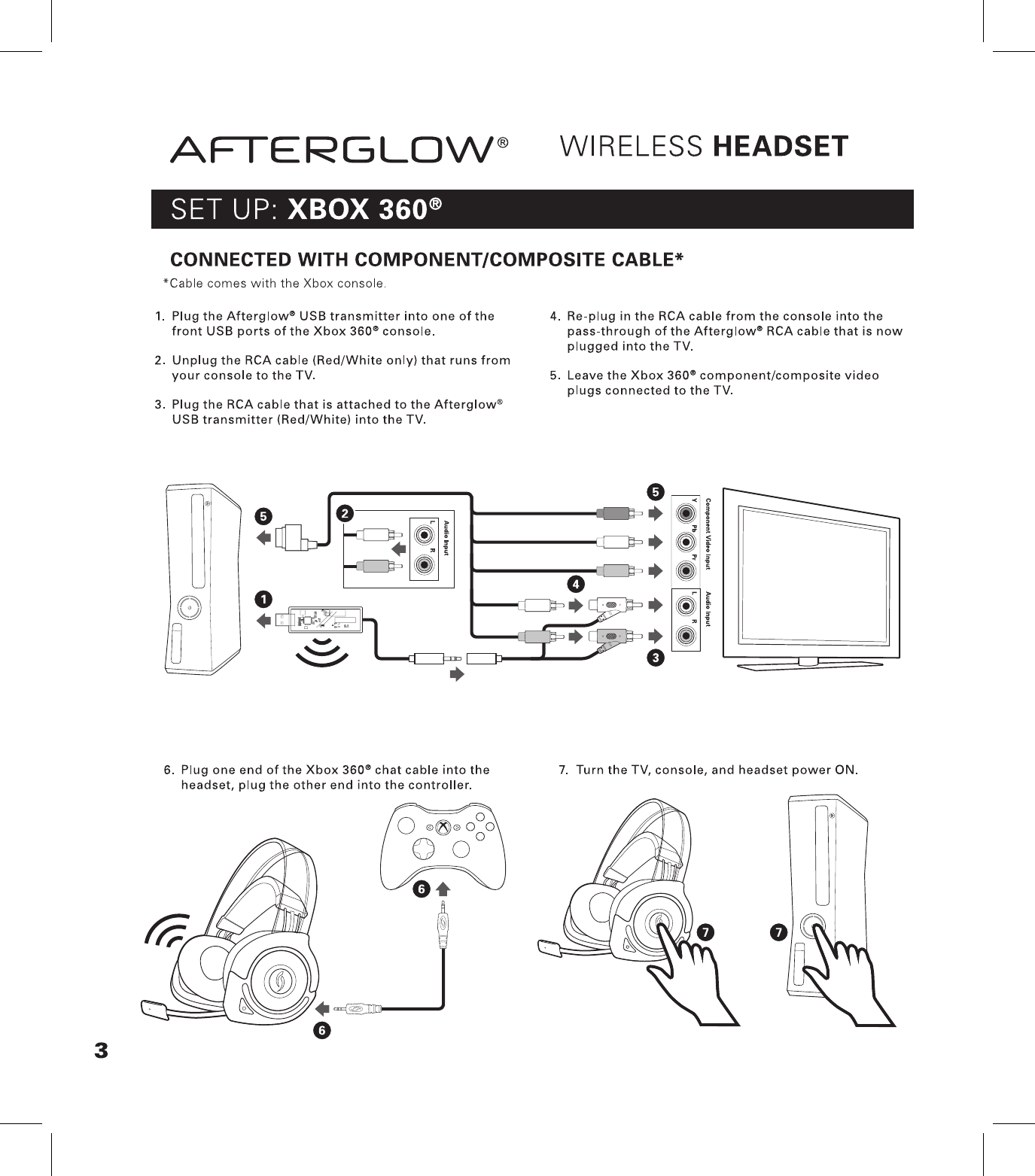 Performance Designed PL9929R Afterglow Universal/ XBOX360