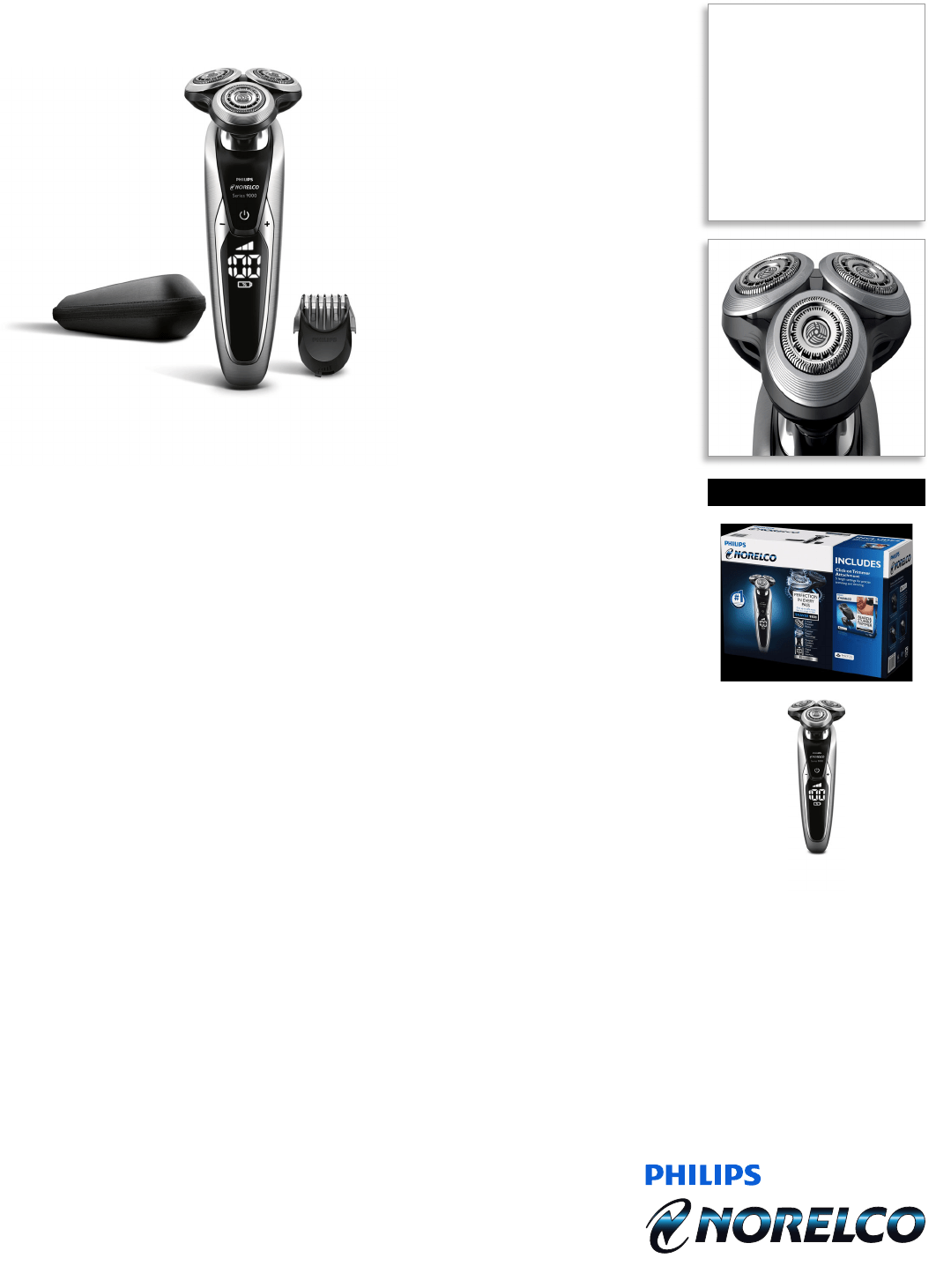Philips S9731/90 Wet & Dry Electric Shaver, Series 9000