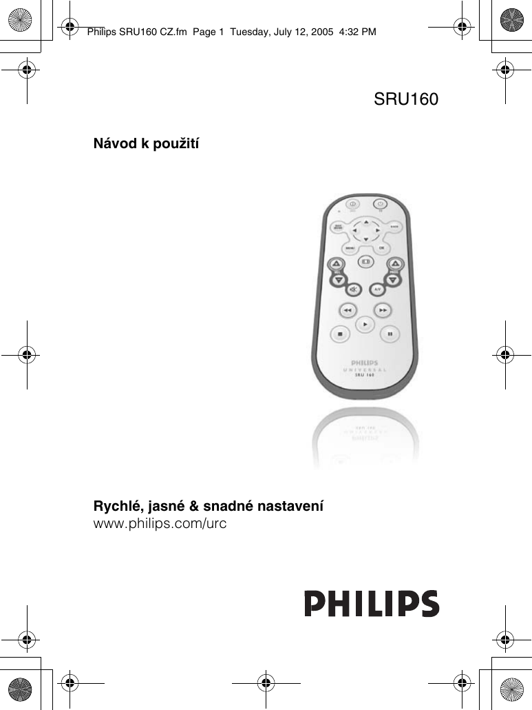 Philips SRU160/10 SRU160 CZ User Manual Käyttöopas 10 Dfu Ces