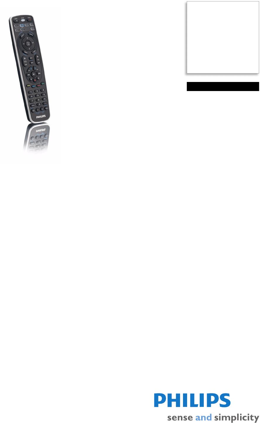 Philips SRU5107WM17 SRU5107WM/17 Universal Remote Control
