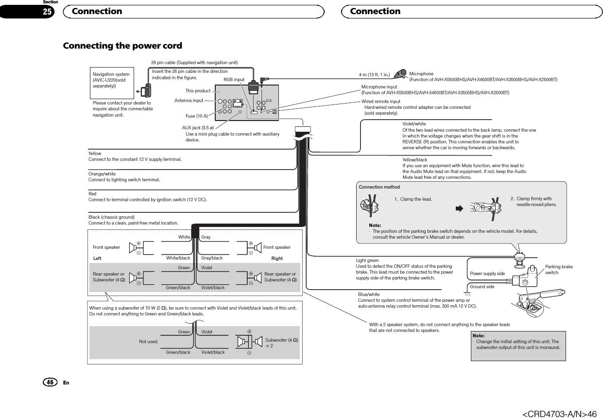 pioneer avh p3100dvd wiring diagram les paul 50 s x5600bhs in dash