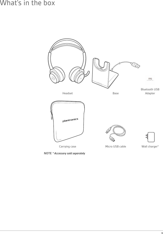 Plantronics B825 Stereo Bluetooth Headset User Manual B825
