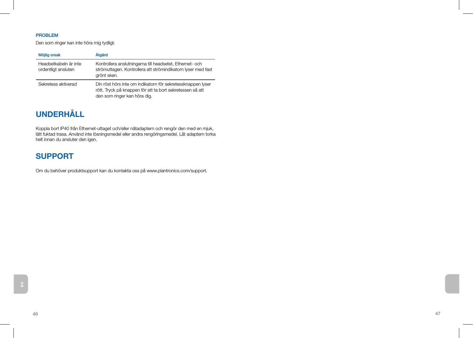 Plantronics IP40 VoIP Headset Adaptor User Manual