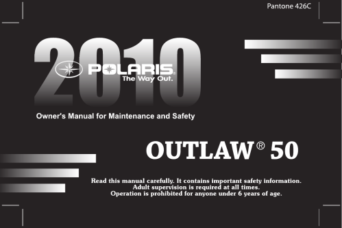 small resolution of polaris outlaw 9922485 owners manual manualslib makes it easy to find manuals online