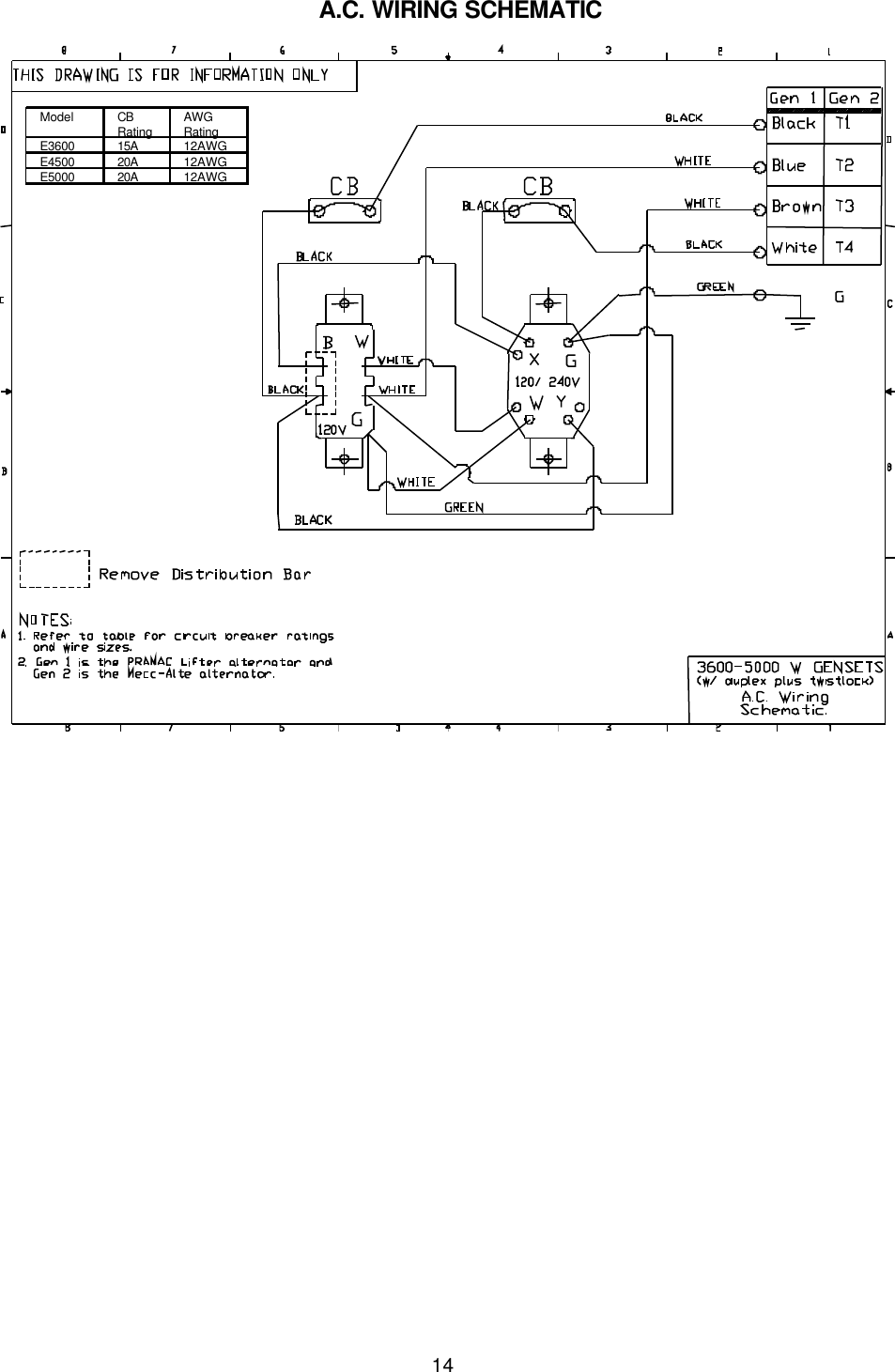 Portable Generator Wiring Diagram