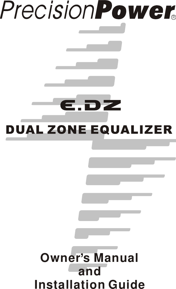 Precision Power Dual Zone Equalizer E Dz Users Manual EDZ