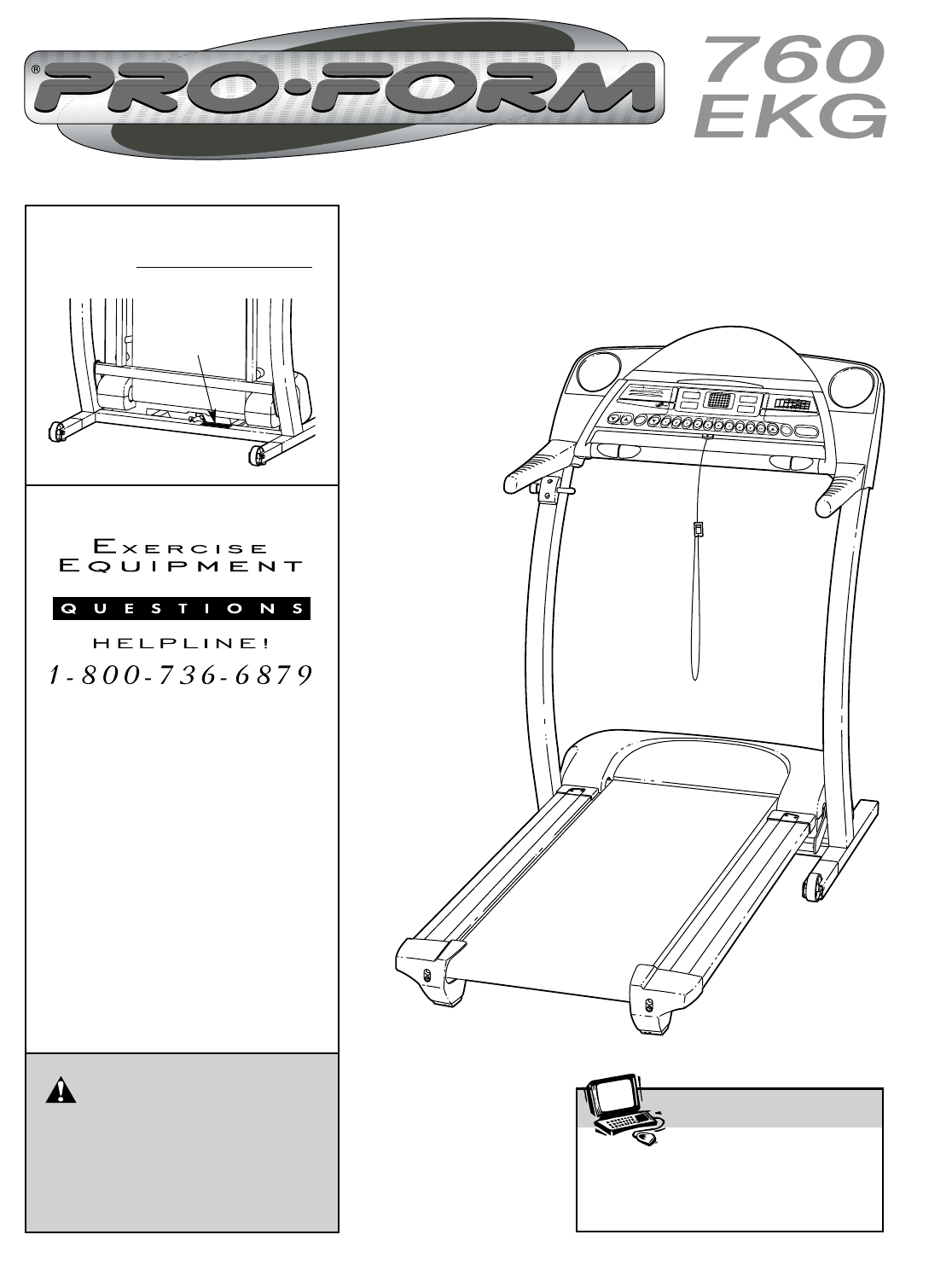 Proform 291670 760 Ekg Treadmill Users Manual