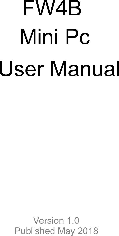 Protectli FW4B Mini Pc User Manual