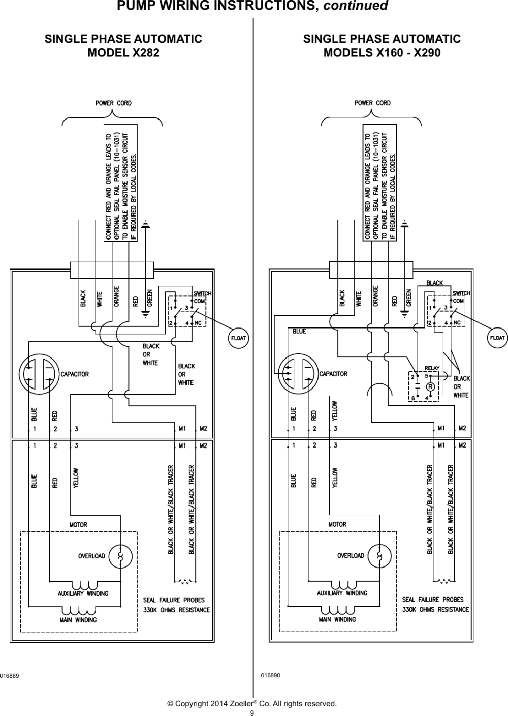 medium resolution of 231 1 zoeller x280 series explosion proof pump owners manual user zoeller wiring diagram page 9