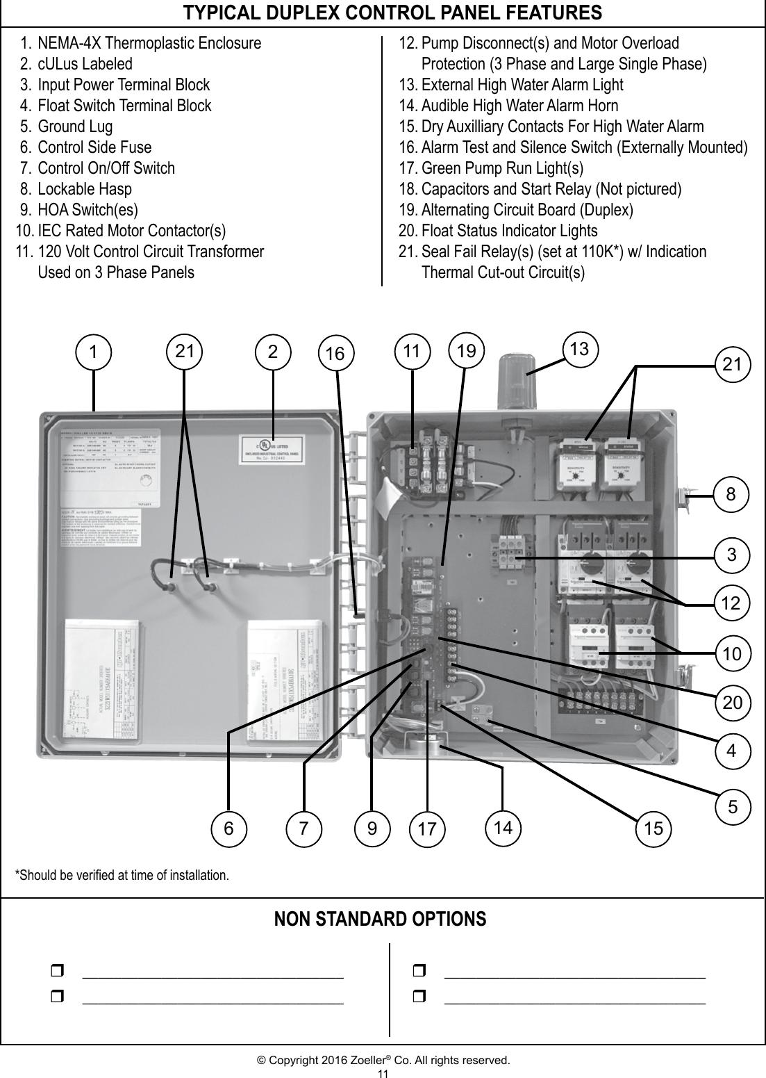duplex pump control panel wiring diagram gm si alternator zoeller best site