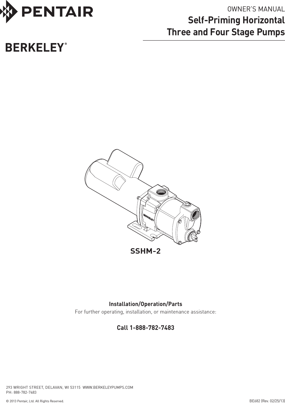 49262 3 Berkeley B82456 01 Owners Manual User