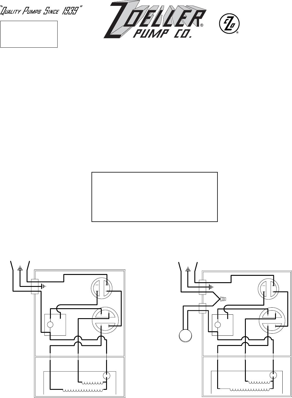 536722 2 Zoeller E820, I820, Wd820, Wh820 Repair Parts