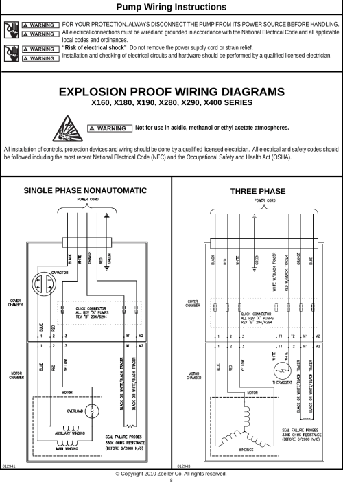 small resolution of page 8 of 12 537016 3 zoeller x160 series owners manual fm2298 hazardous environment