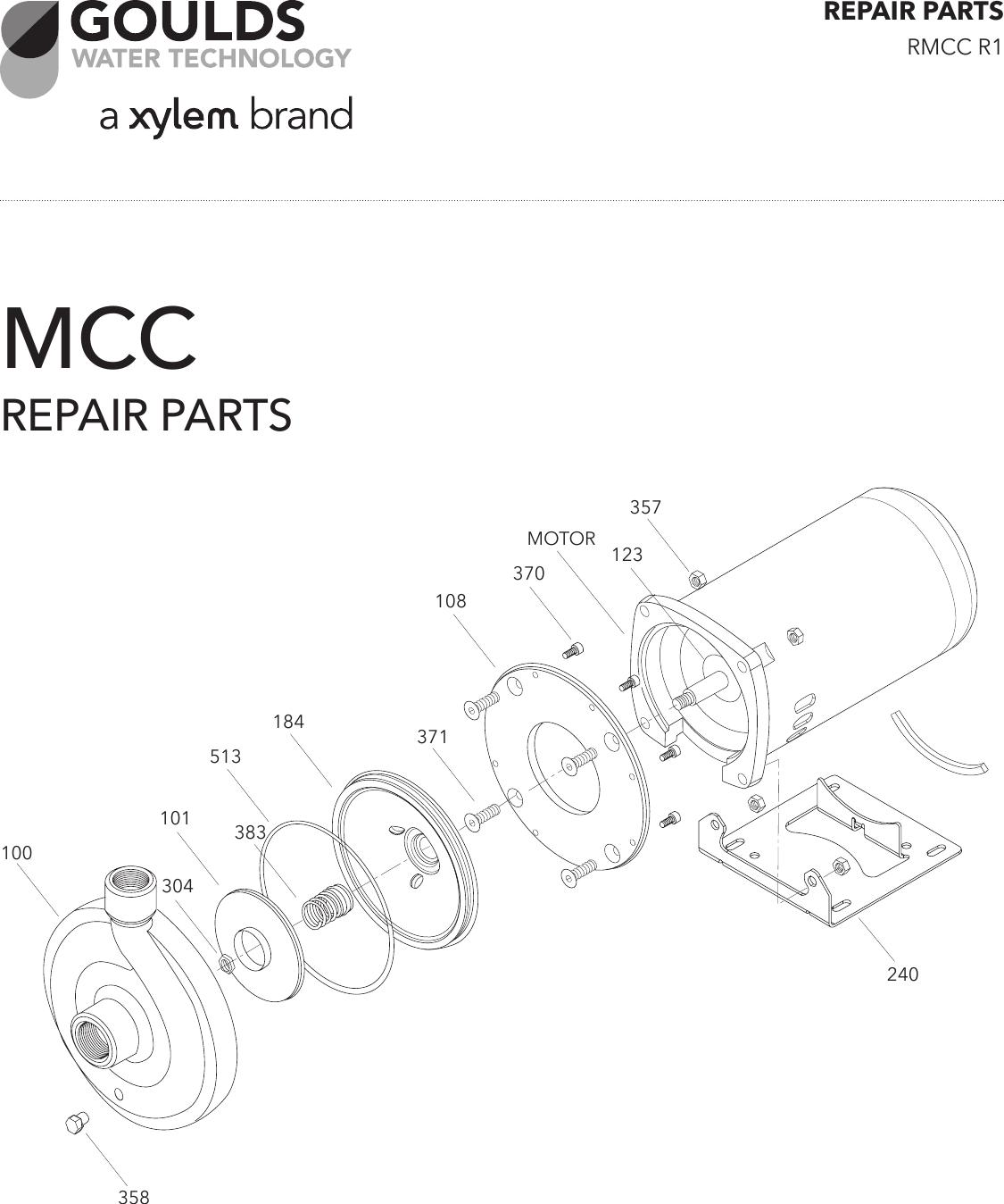 539028 1 Goulds MCC Repair Parts