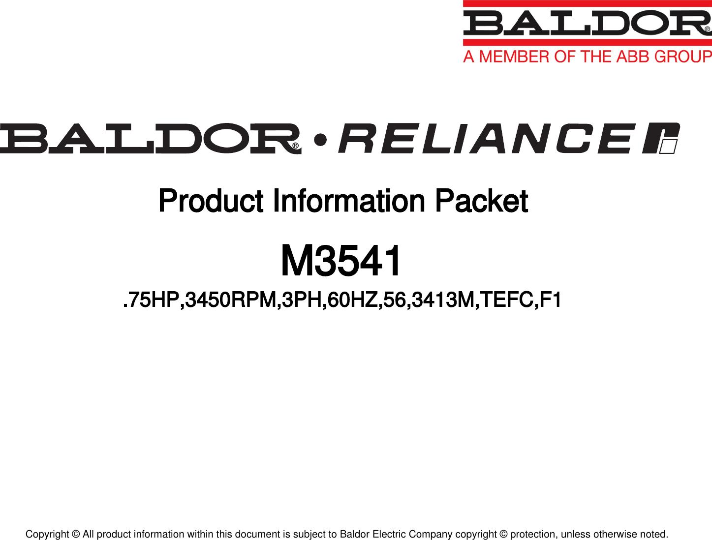 1 Baldor M Information Packet