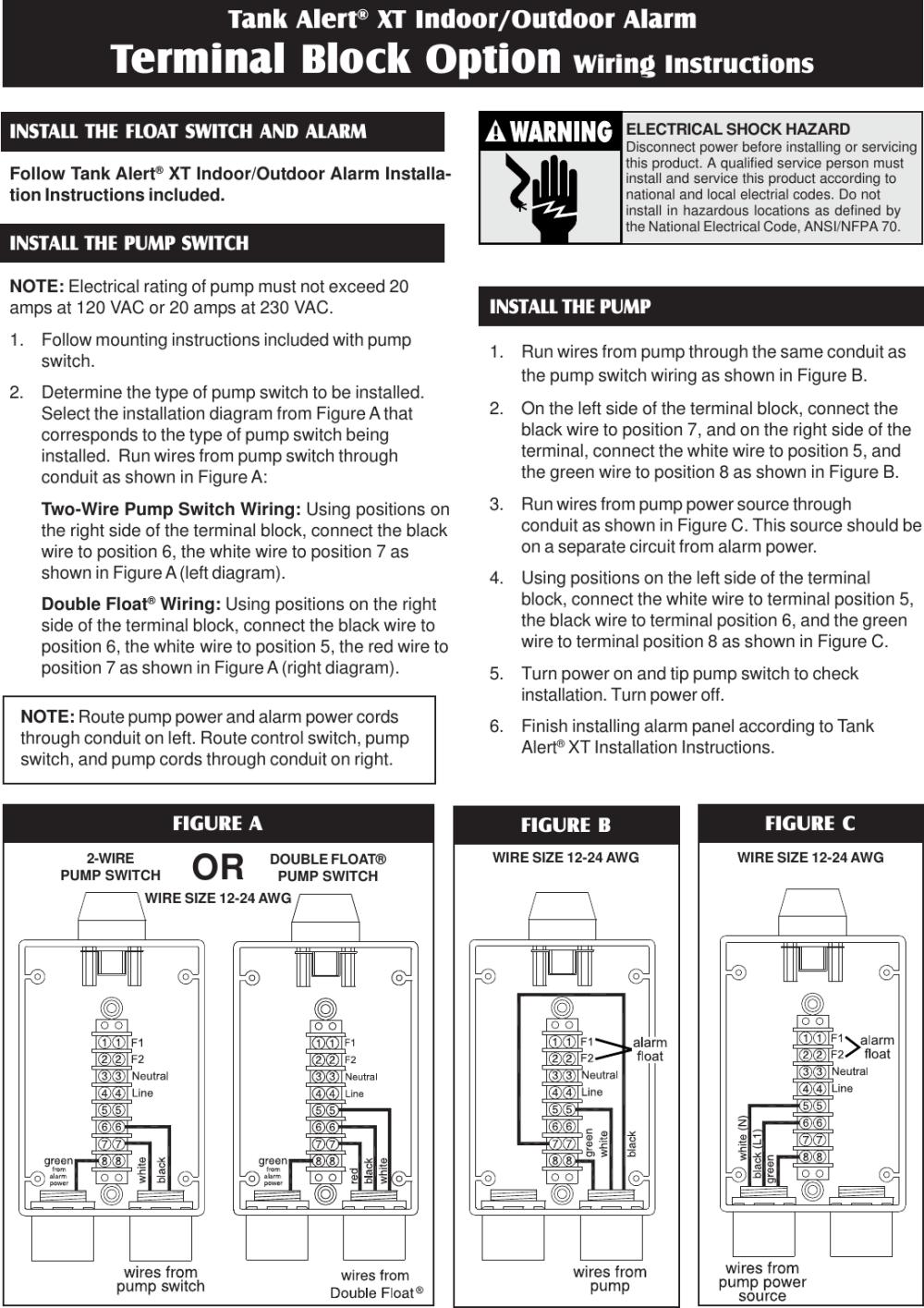 medium resolution of tank alert xt source 1011020g tb wiring instr pmd 550334 4 sje rhombus