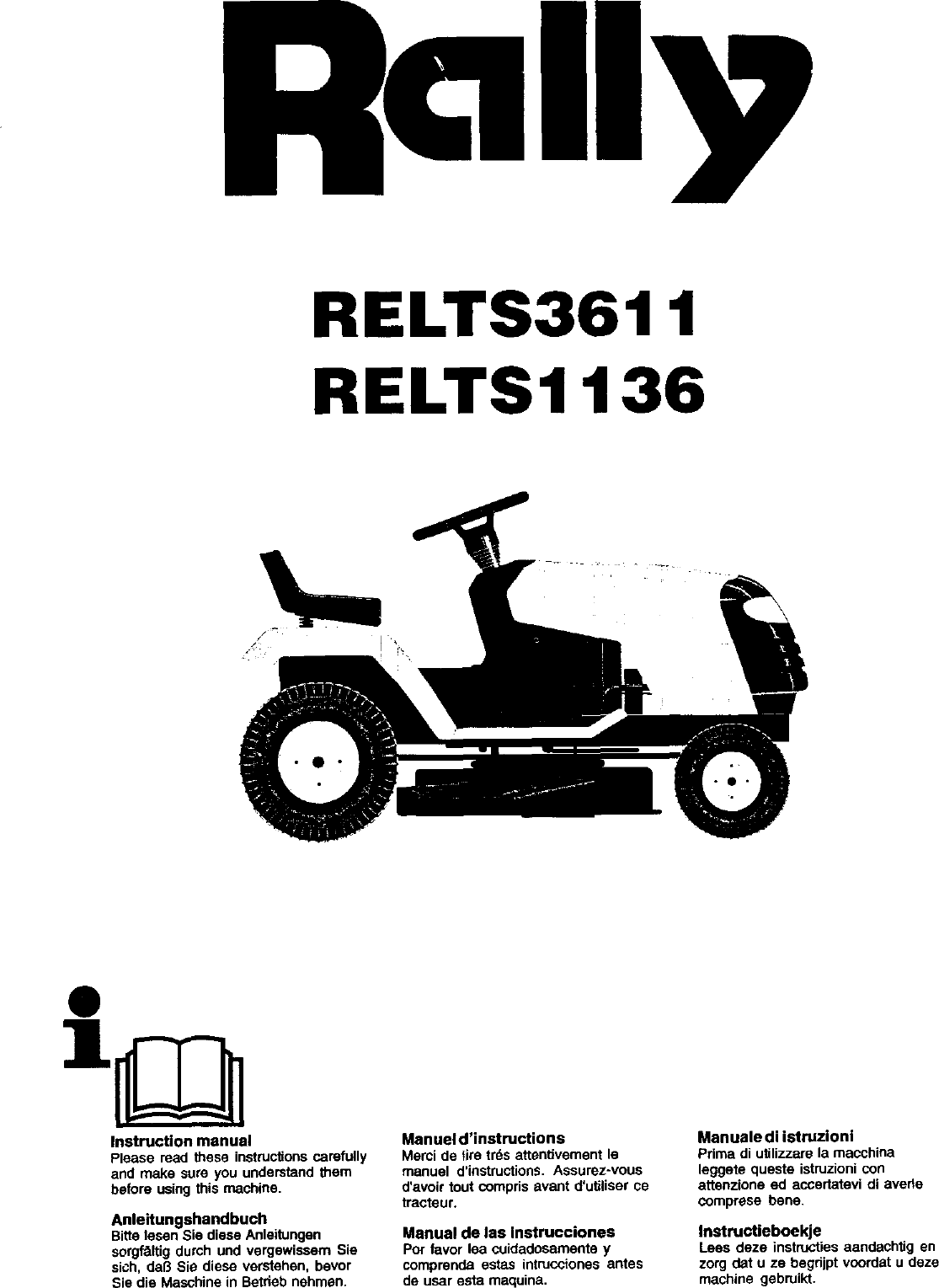 RALLY Lawn, Tractor Manual L0310239