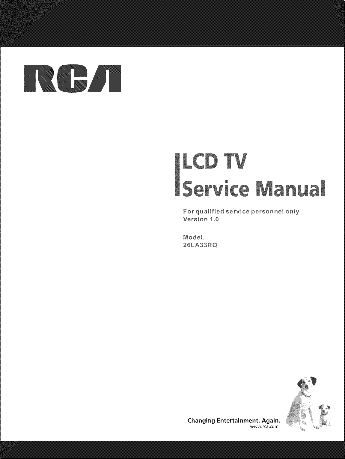 RCA 26LA30RQ User Manual LCD TELEVISION Manuals And Guides
