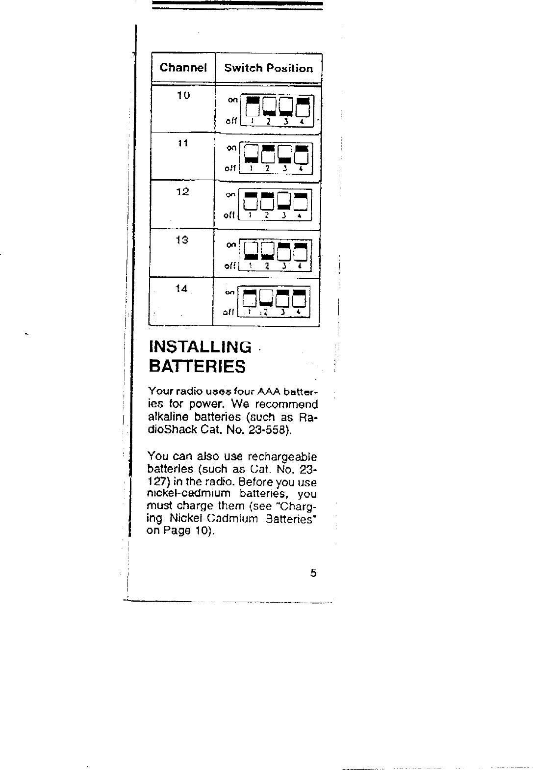 Radio Shack 21-1804 User Manual 52043