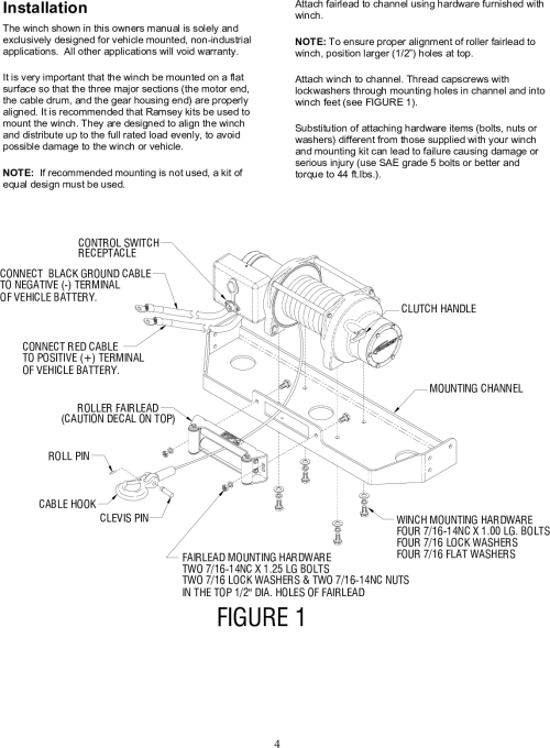 small resolution of page 5 of 12 ramsey ramsey front mount electric winch