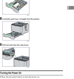 installing the printer212jremove the protective material attached inside the tray kcarefully push tray 1 straight [ 986 x 1409 Pixel ]