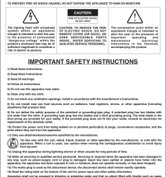2important safety instructionswarning to prevent fire or shock hazard do not use this plug [ 1125 x 1500 Pixel ]