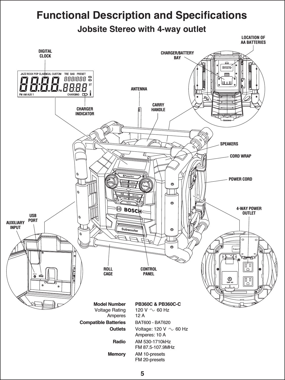 Robert Bosch Tool Pb360c Power Box User Manual Bm