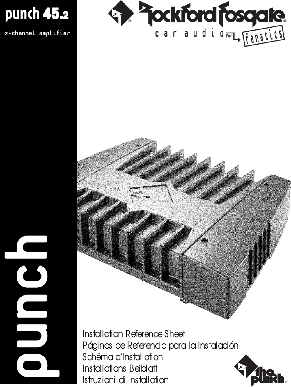 medium resolution of rockford punch 45 wiring diagram