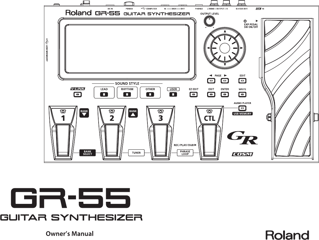 Roland Gr 55 Users Manual