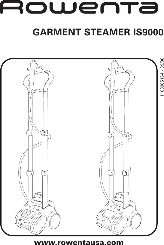 Rowenta Garment Steamer Is9000 Users Manual