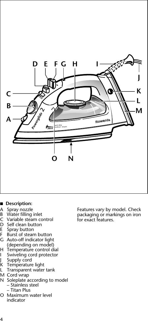 Rowenta Powerglide 2 Users Manual
