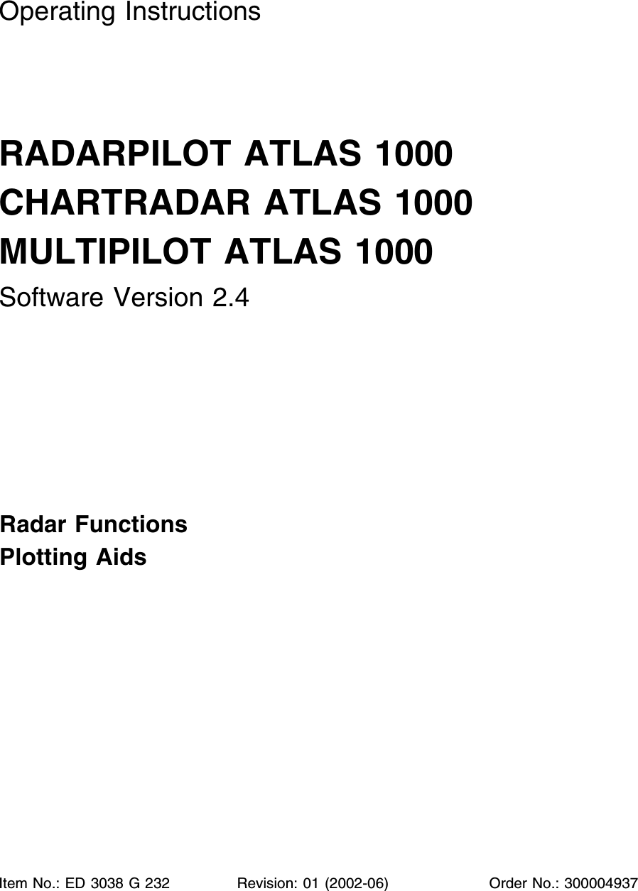 SAM Electronics NG3028X25KW Marine Radar User Manual