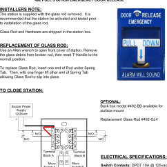 Emergency Door Release Wiring Diagram Ford 289 Distributor Sdc Visio Inst 491 492 Pull Station