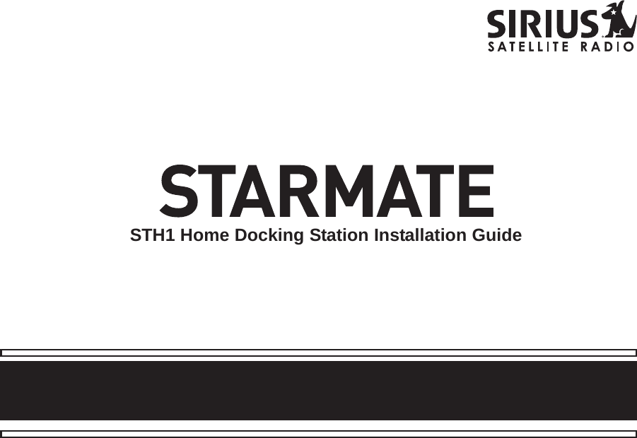 SIRIUS Starmate Sth1 User Manual