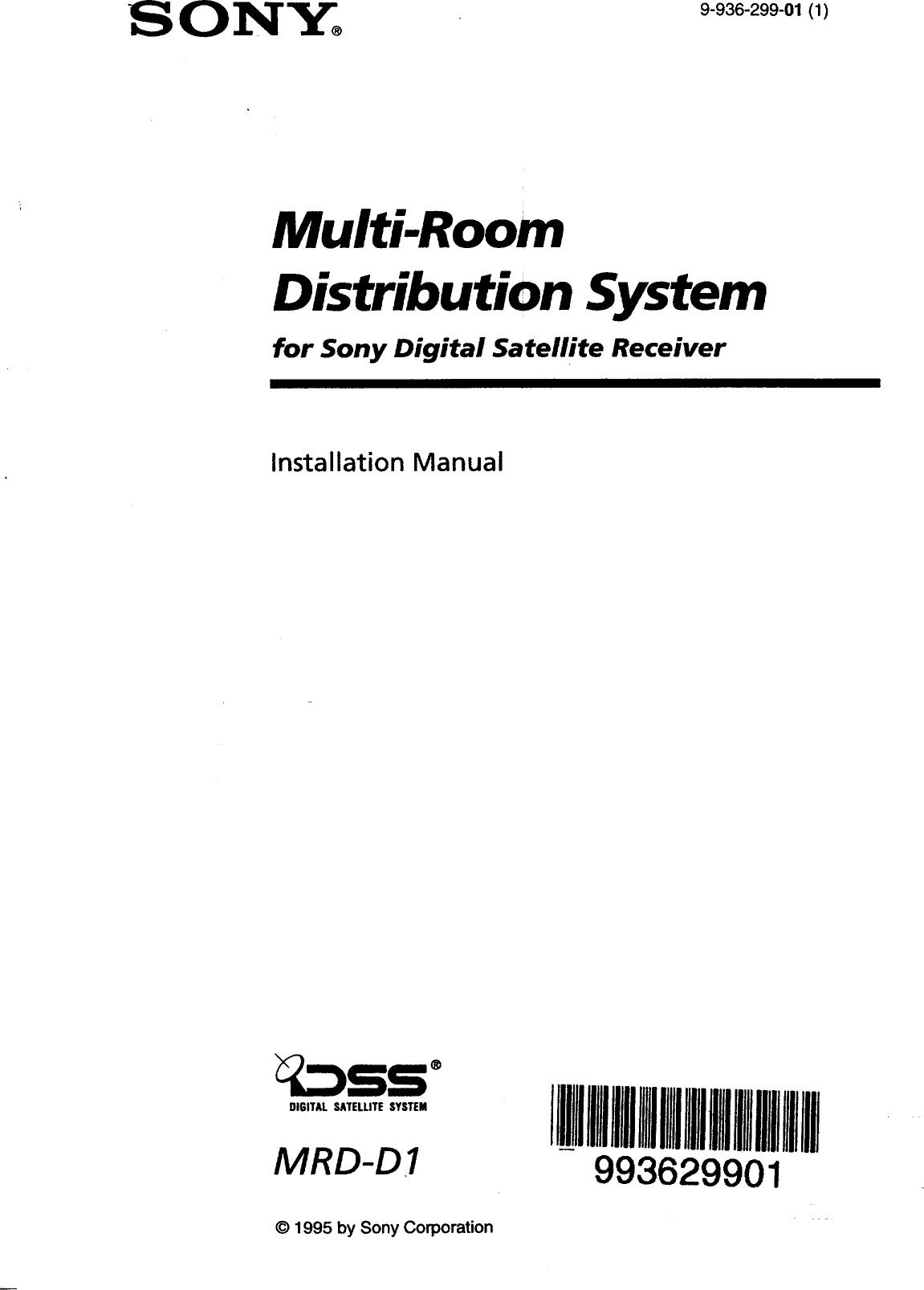 SONY Digital Satellite System Manual 98060096