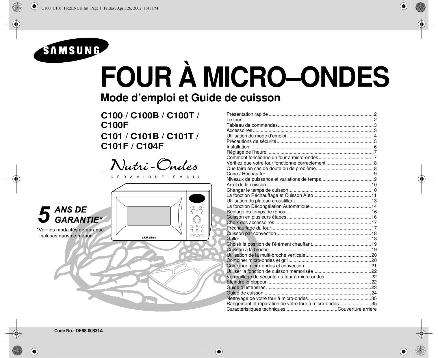 Mode Demploi Four Samsung