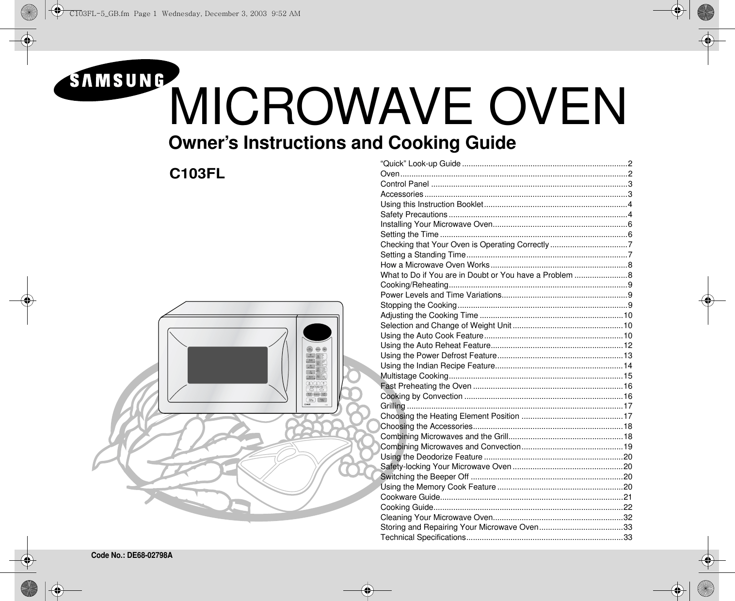 Samsung Microwave Quick Defrost Instructions