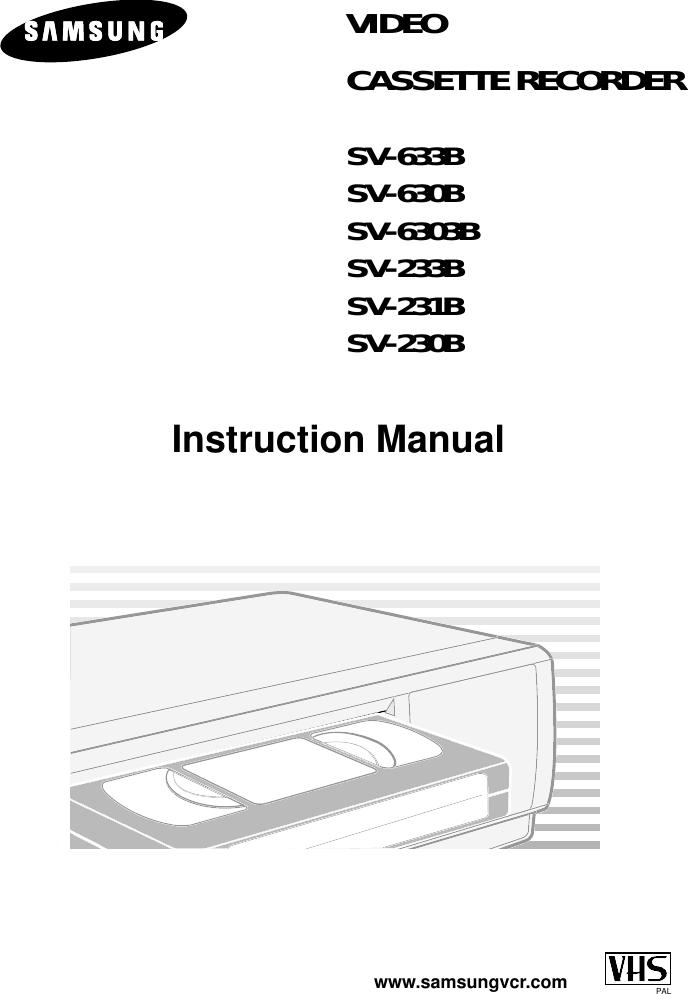 Samsung 00445A SV 633B/XEU GB1 232B 20050622184032359 633B