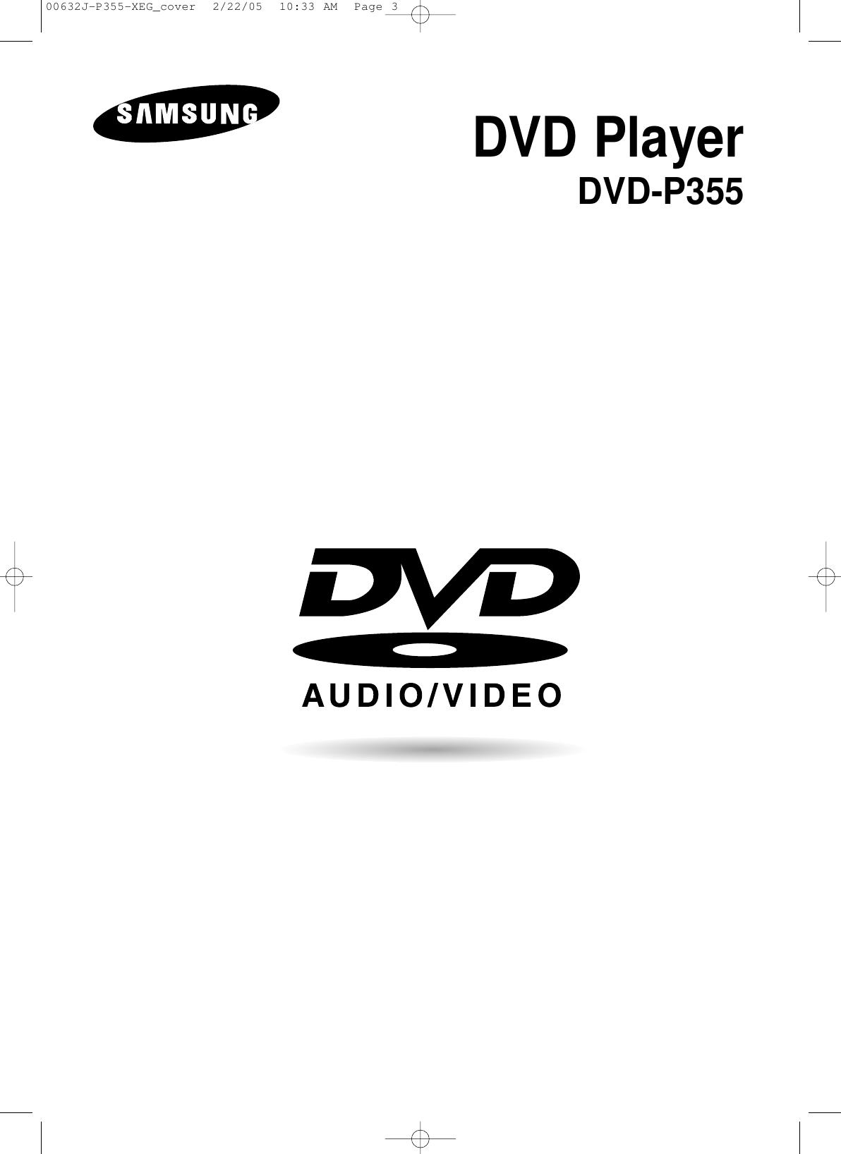 Samsung DVD P355 20050817202817359 SED 0222