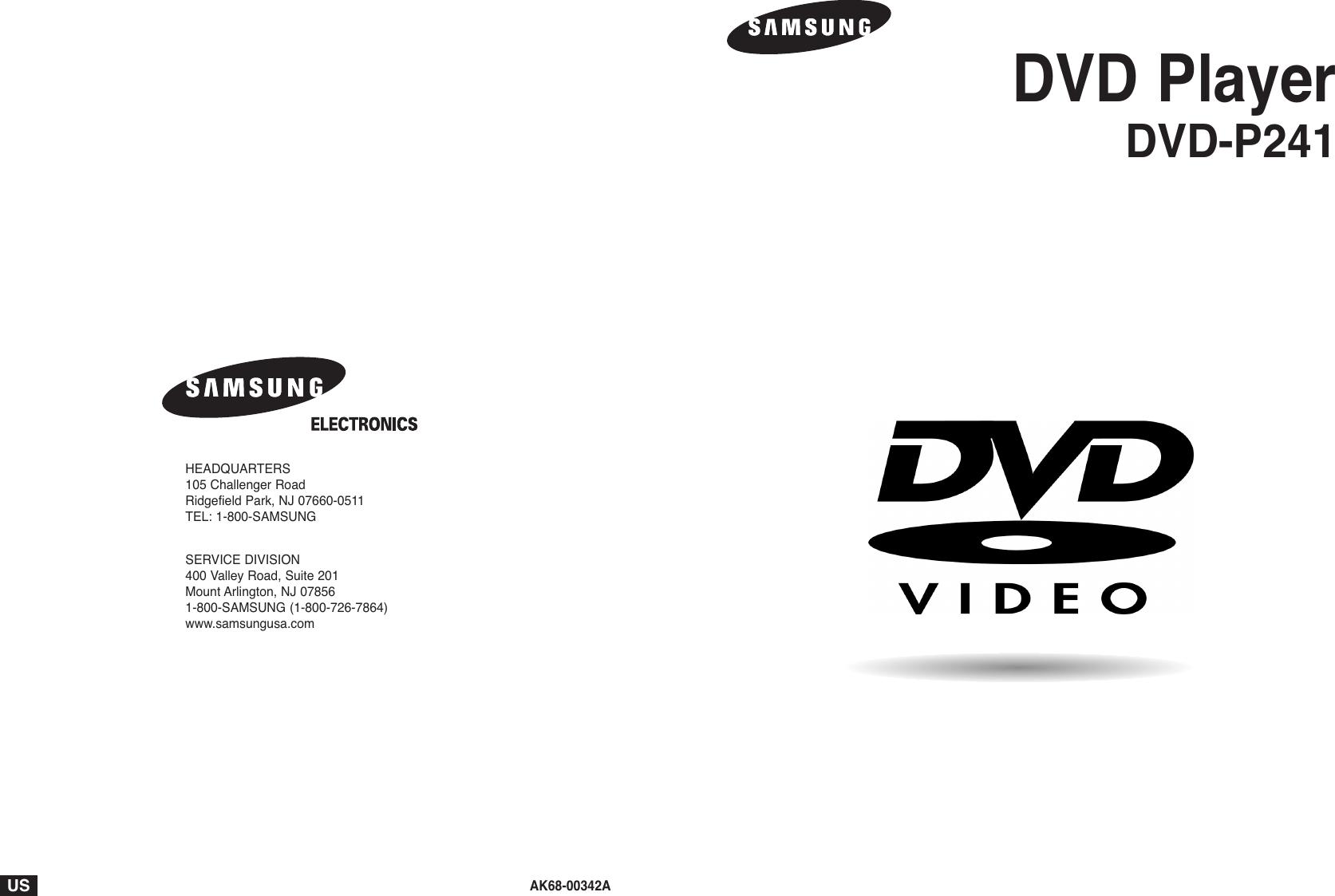 Samsung Dvd P241 Users Manual 00342A/XAA 2