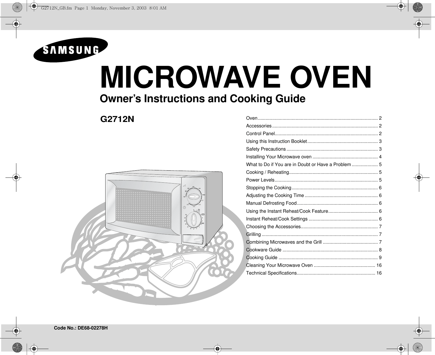 Samsung Microwave Instructions Defrost