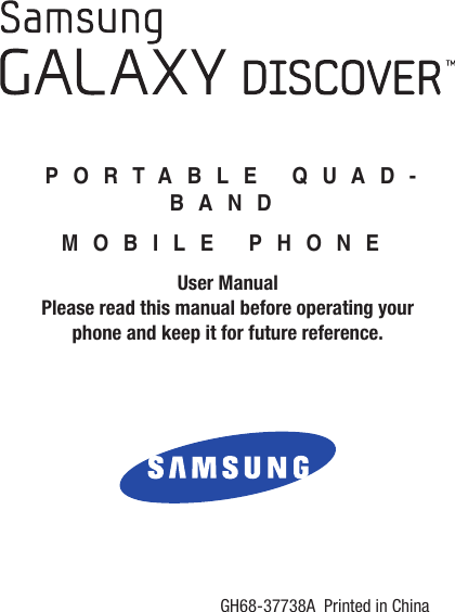 Samsung Galaxy Discover Tracfone Users Manual SGH S730G User