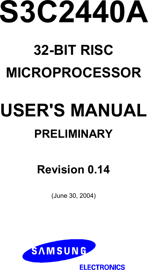 Samsung S3C2440A Users Manual