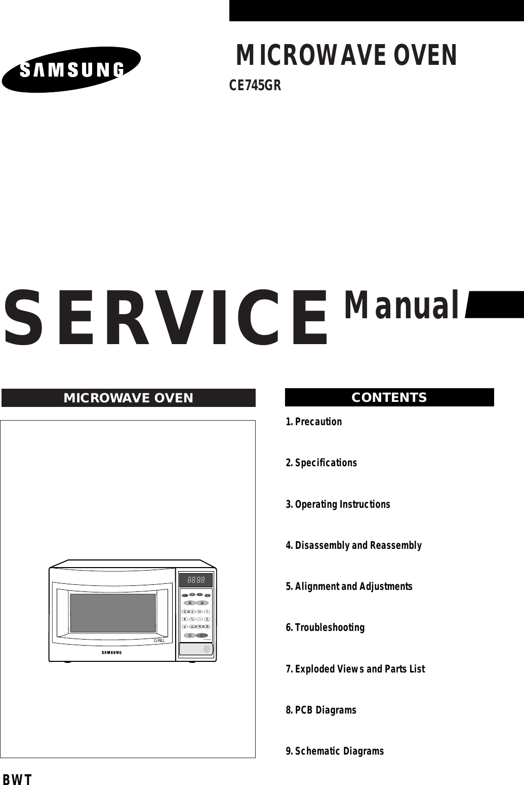 Samsung Microwave Oven Ce745Gr Users Manual
