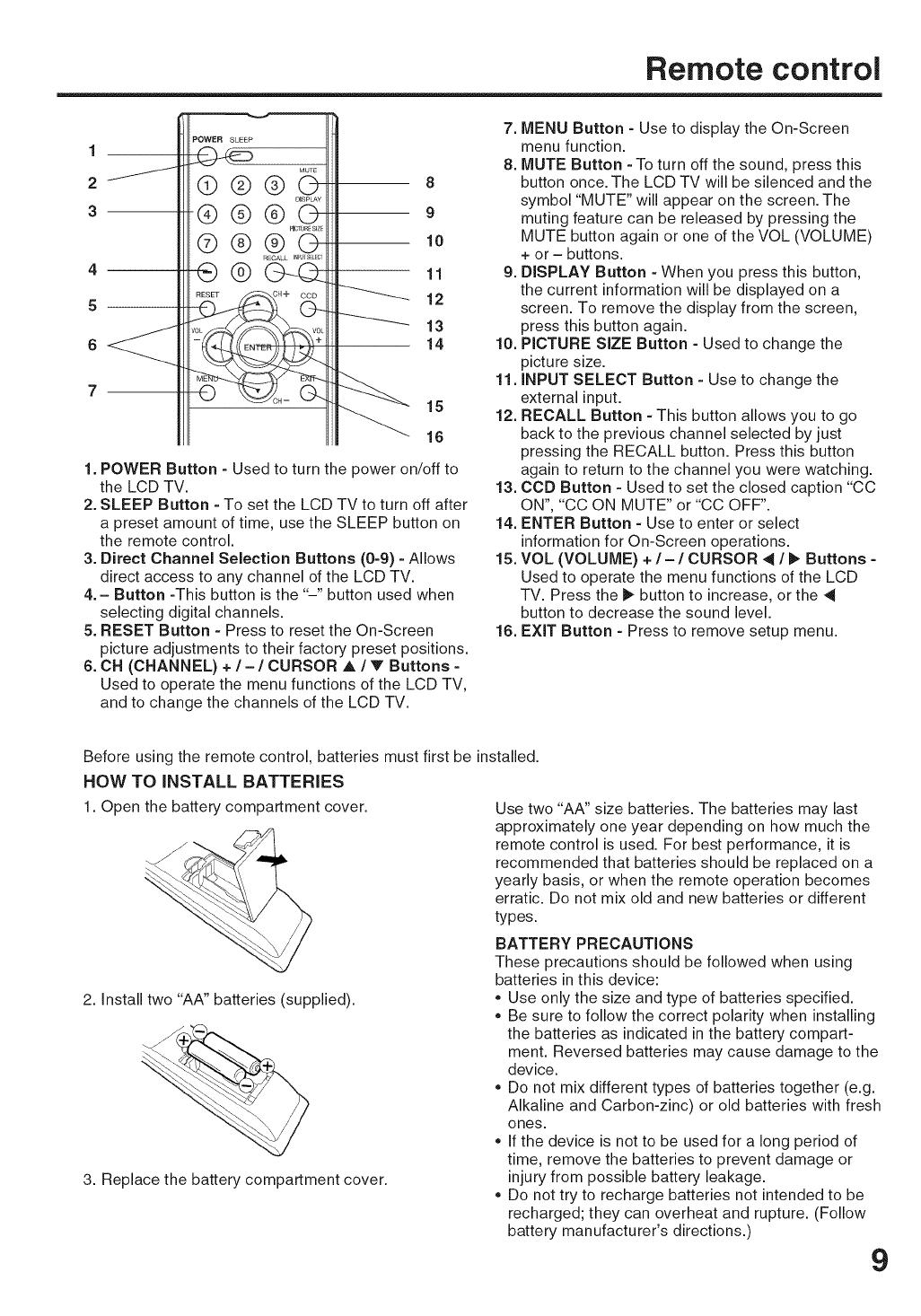 Sansui HDLCD1900 User Manual LCD TELEVISION Manuals And