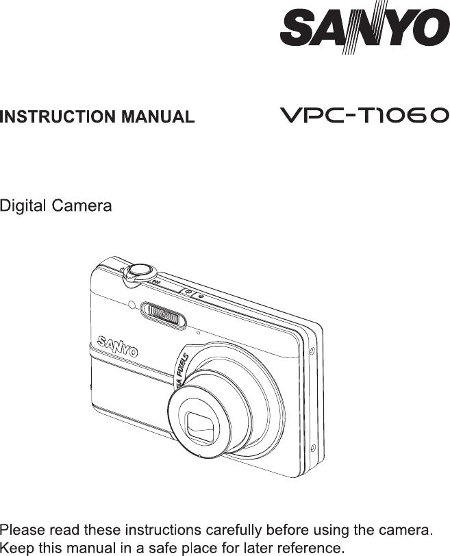 Sanyo Vpc T1060 Instruction Manual SYDMA360 EN