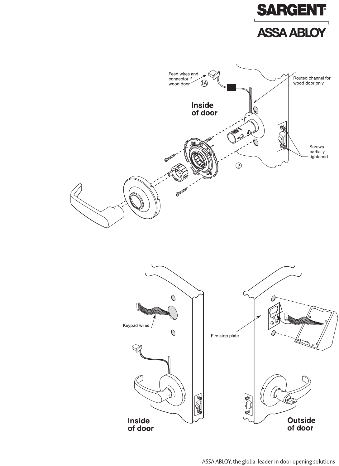 Sargent A7113E Instructions For Installing KP10G77 Line