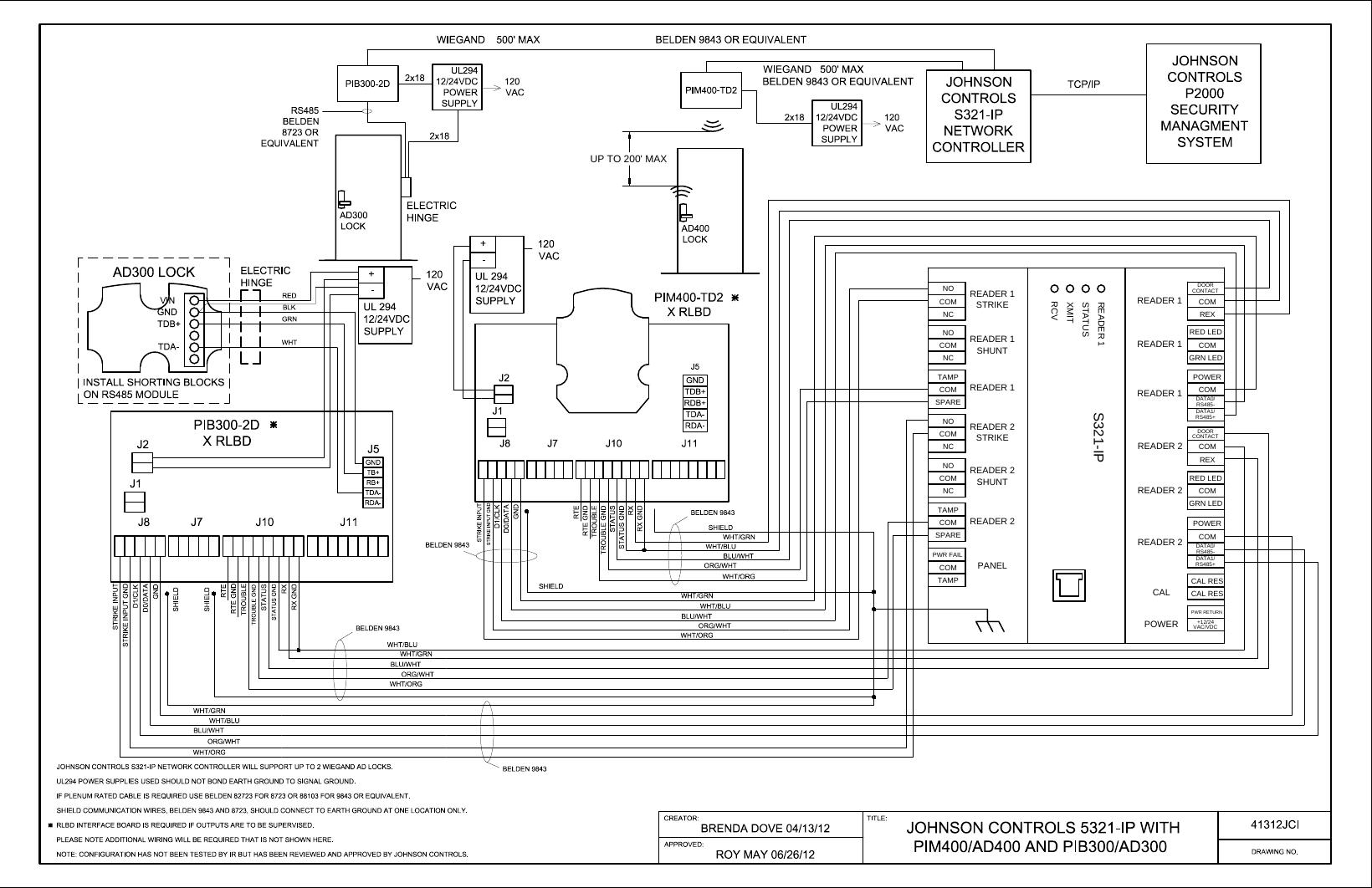 rs485 wiring schlage ad300